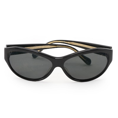 Oliver Peoples Cavanna Sunglasses in Black with Case
