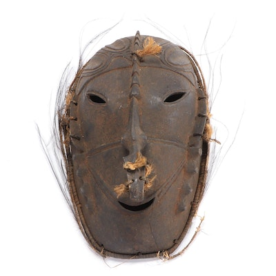 Angoram Hand-Carved Wooden Ancestor Mask, Papua New Guinea