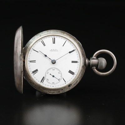 1880 A.W. Co. Waltham Coin Silver Pocket Watch