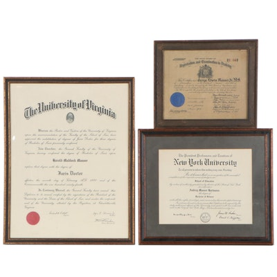 University Diplomas and Dentistry Certification, Early to Late 20th Century