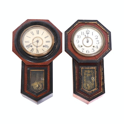 Seikosha Japanese 8-Day Regulator Wall Clocks, Early-Mid 20th Century