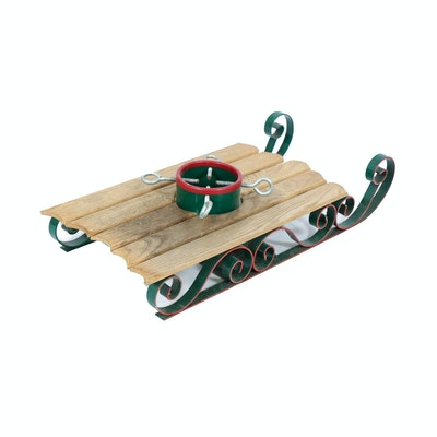 Wooden Sled Christmas Tree Stand, Contemporary