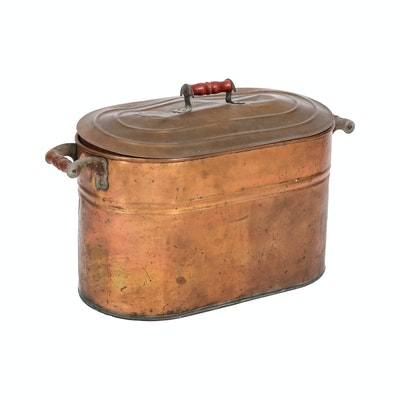Copper Boiler Pot with Lid, Late 19th/Early 20th Century