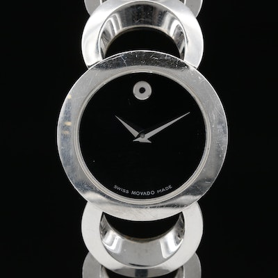 "Movado ""Rondiro"" Stainless Steel Quartz Wristwatch"