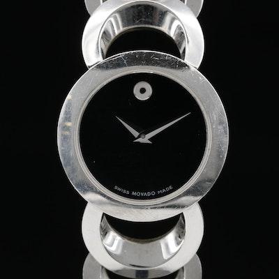 "Movado ""Rondiro"" Stainless Steel Quartz Wristwatch"