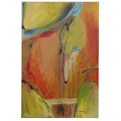 Nelle Ferrara Abstract Mixed Media Painting, 2014