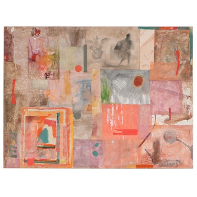 Frederick Lyman Jr. Abstract Mixed Media Collage