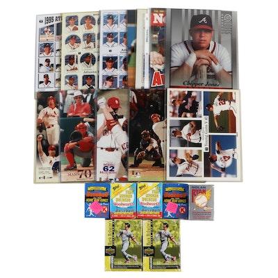 1990s Mark McGwire, Nolan Ryan, and Chipper Jones Baseball Memorabilia