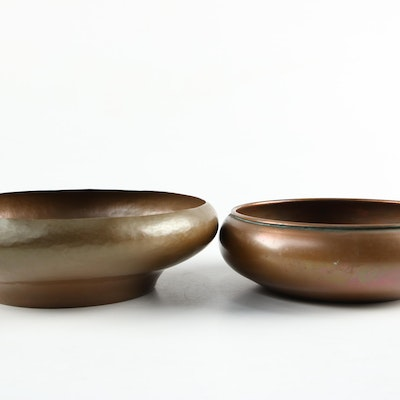 Revere and Other Copper Low Bowl and Console Bowl