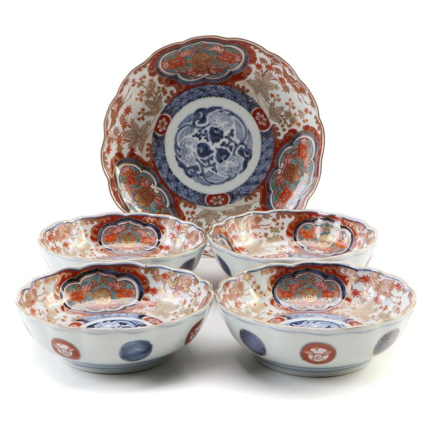 Japanese Imari Porcelain Bowls, Meiji Period