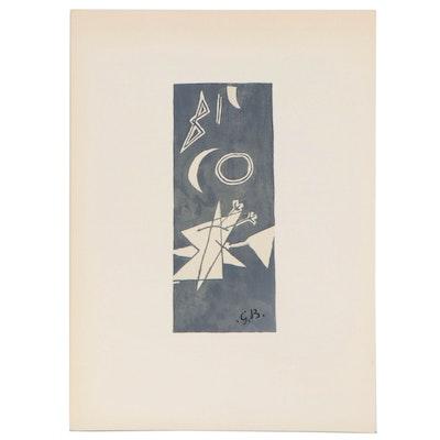 """Georges Braque Color Lithograph for """"Derriére le Miroir"""", 1959"""