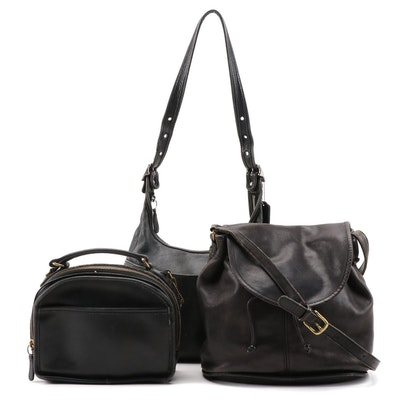 Coach Legacy, Lunch Box Style and Soho Whitney Black Leather Purses