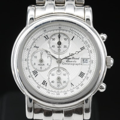 Lucien Piccard Noble Chronograph Stainless Steel Quartz Wristwatch