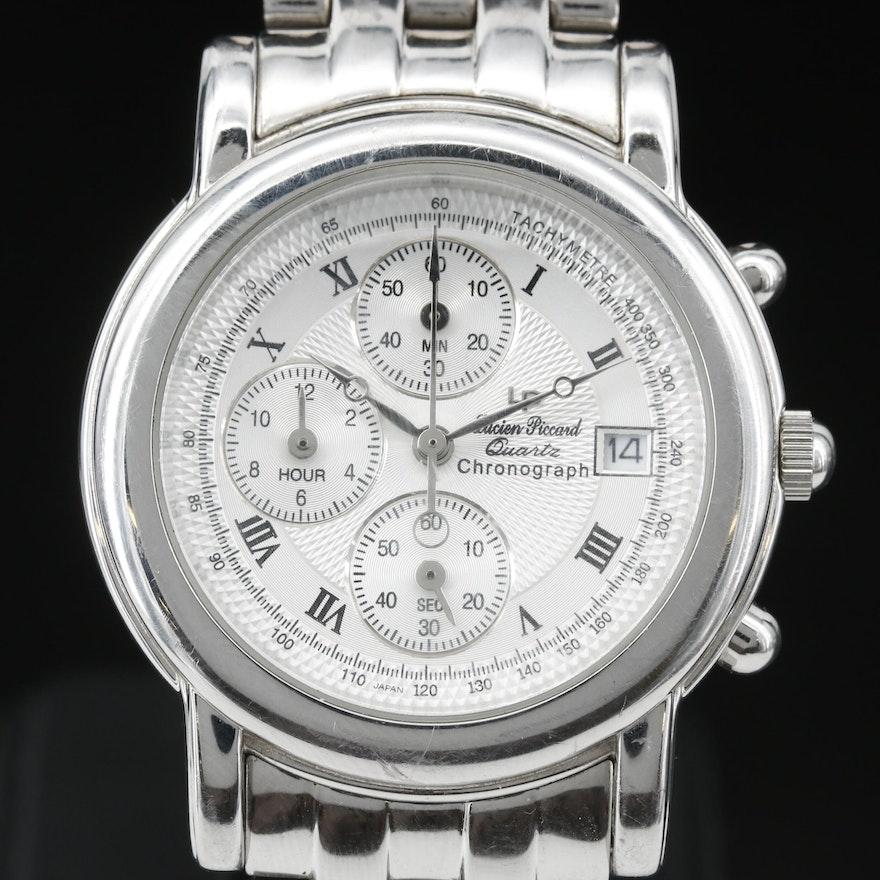 Lucien Piccard Noble Chronograph Stainless Steel Quartz Wristwatch