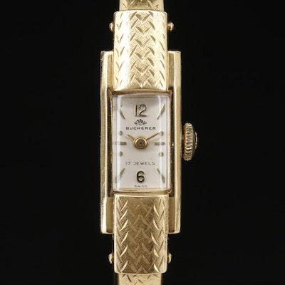 18K Bucherer Cuff Style Stem Wind Wristwatch