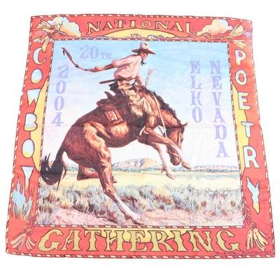 After Buckeye Blake National Cowboy Poetry Gathering Print Scarf