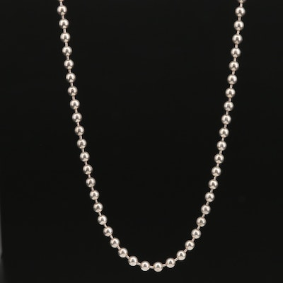 Tiffany & Co. Sterling Silver Beaded Chain Necklace