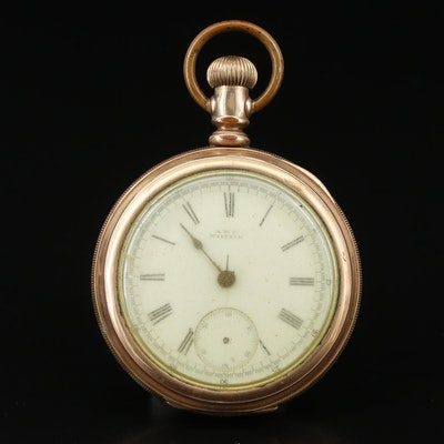 Circa 1885 A.W.C. Waltham Hillside Chronograph Gold Filled Pocket Watch