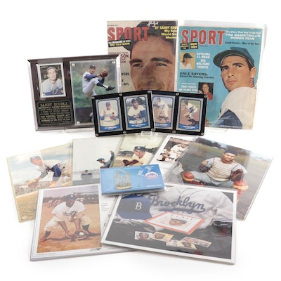 Sandy Koufax and Brooklyn Dodgers Baseball Memorabilia, Mid to Late 20th C.