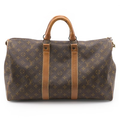 The French Company for Louis Vuitton Keepall 45 Duffel Bag in Monogram Canvas