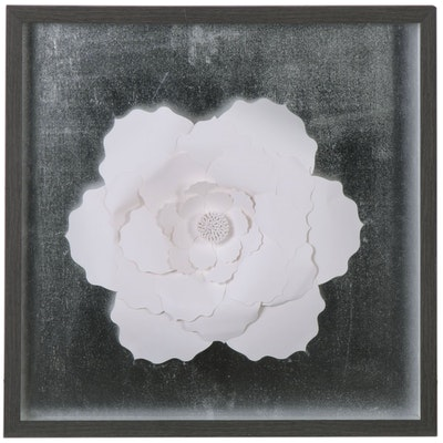Cut Paper White Flower Composition, 21st Century