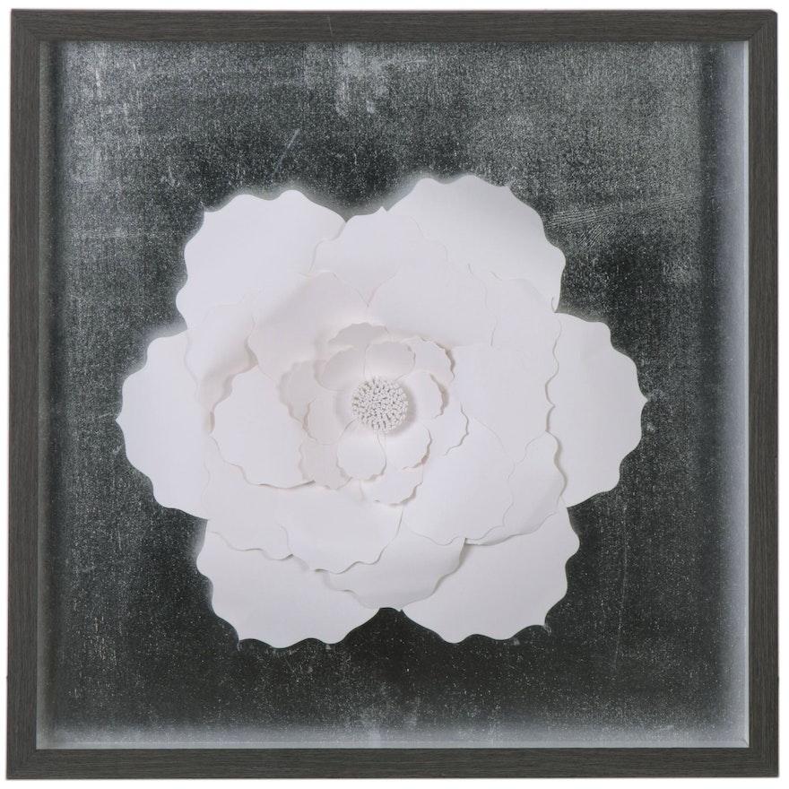 Cut Paper White Flower Composition, 21st Century