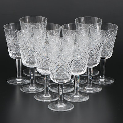 "Waterford Crystal ""Alana"" Water Goblets, Mid to Late 20th Century"
