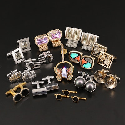 Selected Vintage Cufflinks Featuring Hickok, Swank, Anson and Shields