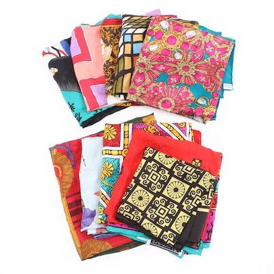 Carlisle Silk Print Scarves