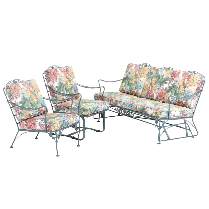 Three-Piece Painted Iron Patio Seating Group