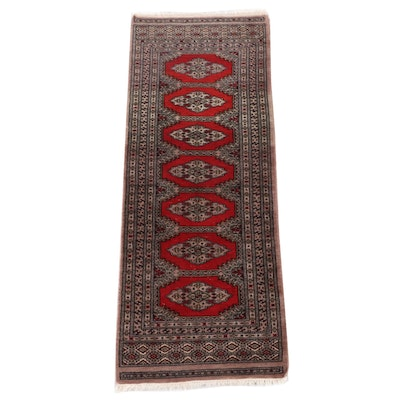 2'2 x 5'8 Hand-Knotted Persian Chenar Wool Carpet Runner