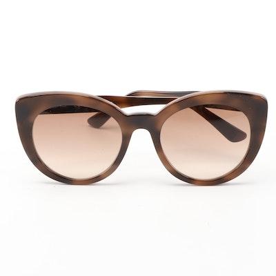 ETRO ET643S Dark Havana Modified Cat Eye Sunglasses with Case