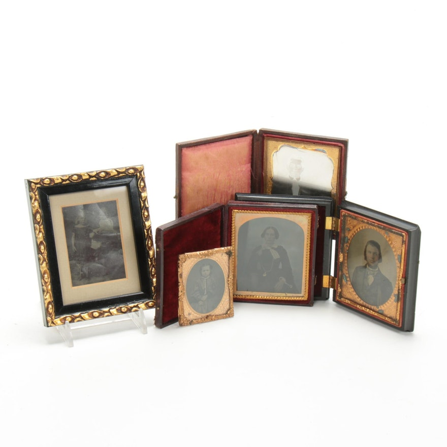 Hand-Colored Daguerreotype, Ambrotypes, and Other Photographs