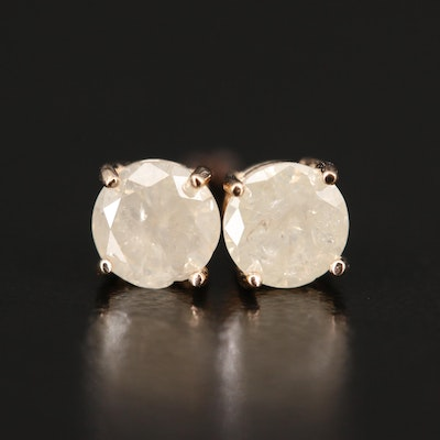 14K Rose Gold 0.73 CTW Diamond Stud Earrings