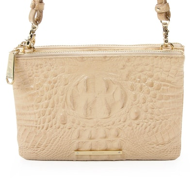 Brahmin Crossbody Bag in Crocodile Embossed Leather