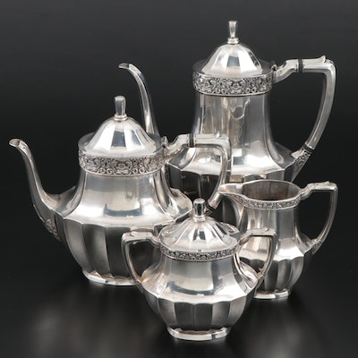 "Oneida ""Coronation"" Silver Plate Coffee and Tea Set"
