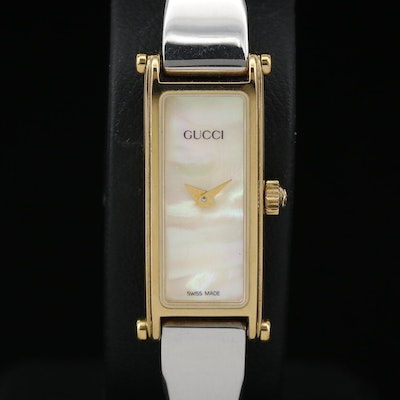 Gucci 1500 Horsebit MOP Dial Two Tone Quartz Wristwatch