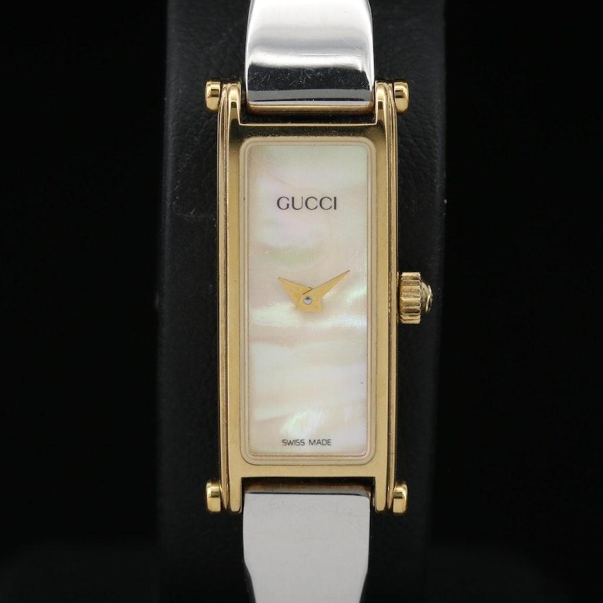 Gucci 1500 Horsebit MOP Dial Two Tone Quartz Wristwatch