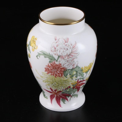"Wedgwood Bone China ""Autumn Chrysanthemum"" Vase, Limited Edition"