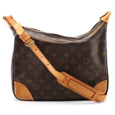 Louis Vuitton Boulogne PM Shoulder Bag in Monogram Canvas and Vachetta Leather