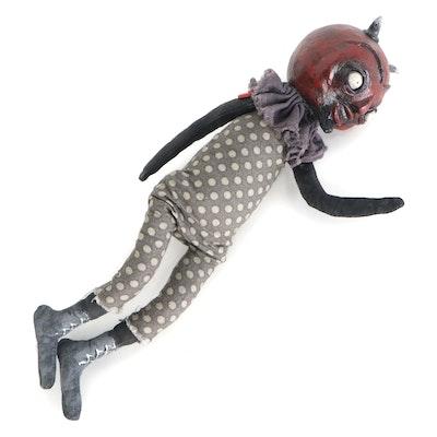 """Debra Klopp Handmade """"Devil"""" Art Dolls, 21st Century"""