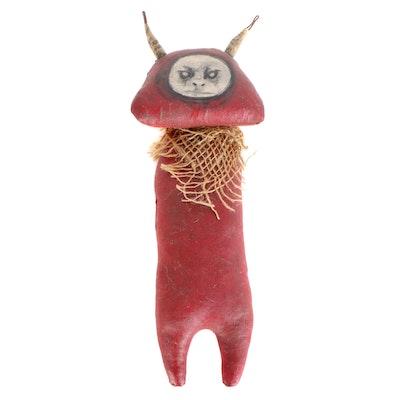 """Debra Klopp Handmade """"Devil"""" Art Doll, 21st Century"""
