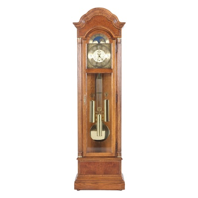 Howard Miller Clock Company Oak Case Grandfather Clock