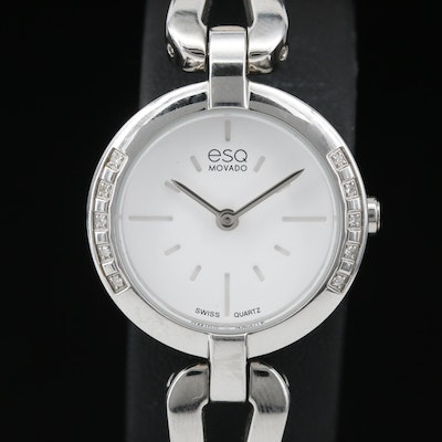 Diamond ESQ Movado Quartz Wristwatch