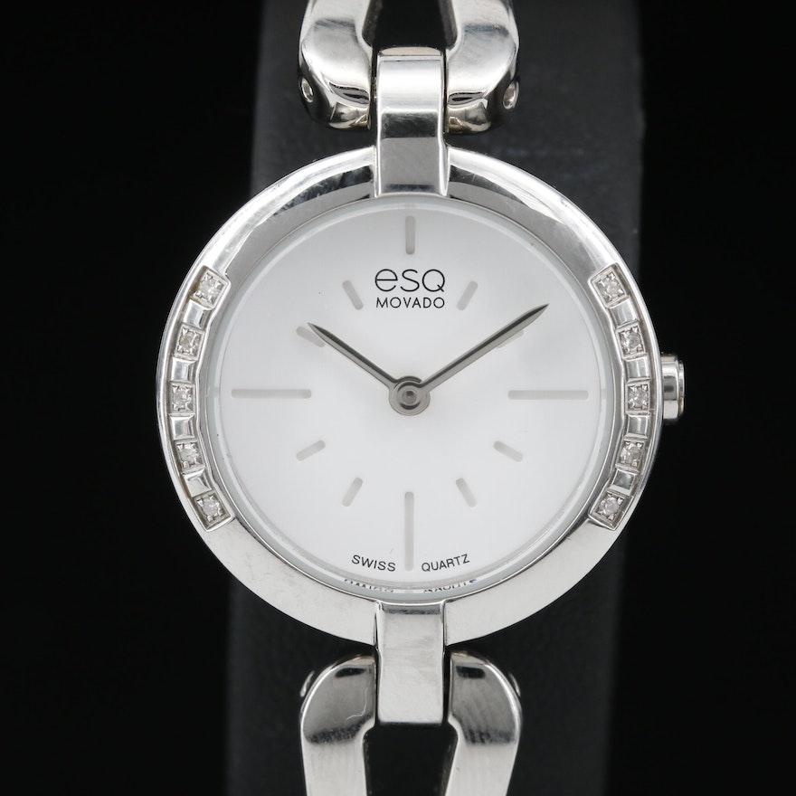 Diamond ESQ Movado Quartz Wristwatch