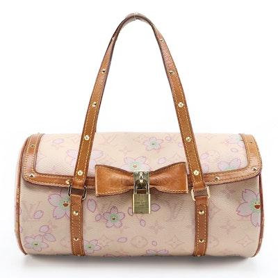 Louis Vuitton X Takashi Murakami Papillon Bag in Cherry Blossom Monogram Canvas