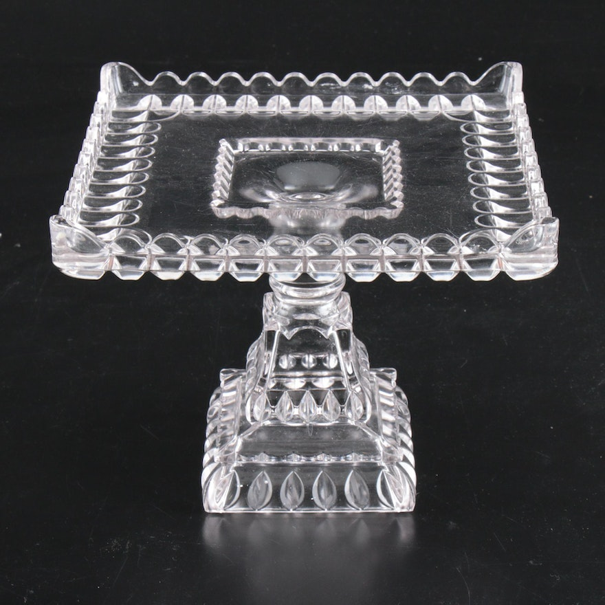 """Adams EAPG """"Crystal Wedding"""" Cake Stand, Early to Mid 20th Century"""