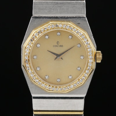 Concord Mariner 18K and Stainless Steel Diamond Quartz Wristwatch