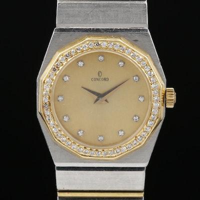 Concord Mariner 18K and Stainless Steel Diamond Quartz Wristwatch