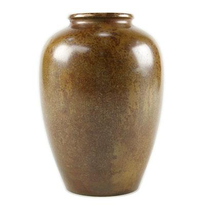 Handmade Brass Flower Vase, 20th Century